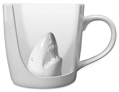 ↑ Shark Attack Porcelain Mug
