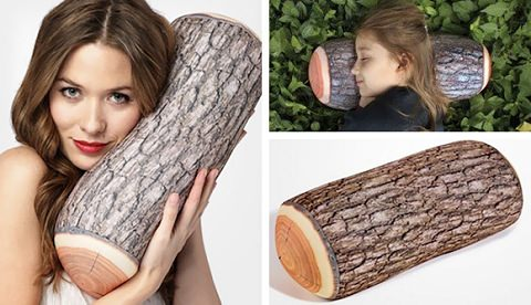 ↑ Kikkerland Log Micro Bead Head Cushion