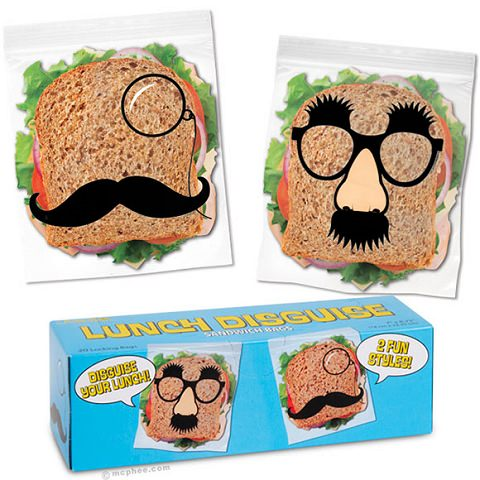 ↑ Lunch Disguise Sandwich Bags
