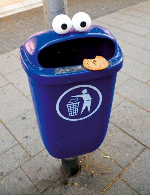↑ クッキーモンスターみたいな感じ