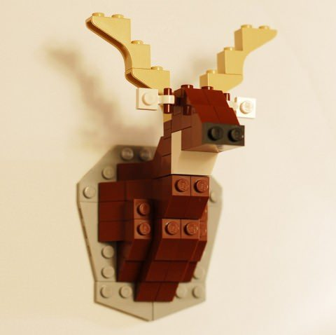 ↑ Taxidermy Deer LEGO Kit