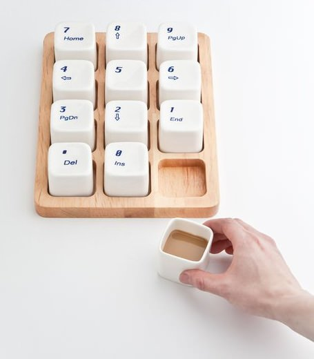↑ Keyboard Coffee Cups by E Square