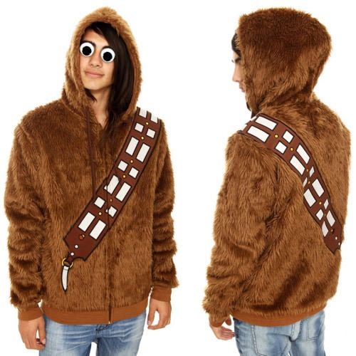 ↑ Star Wars Chewbacca Furry Zip Hoodie
