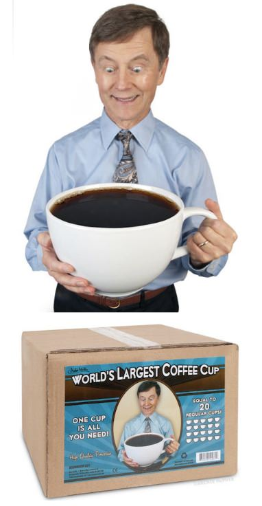 ↑ World's Largest Coffee Cup
