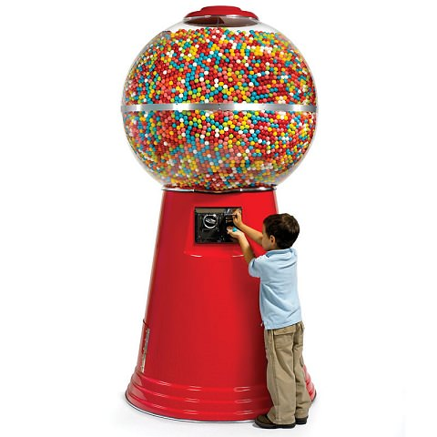 ↑ The 14,450 Gumball Machine.