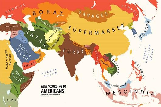 ↑ 「自分の価値観」で見た世界地図