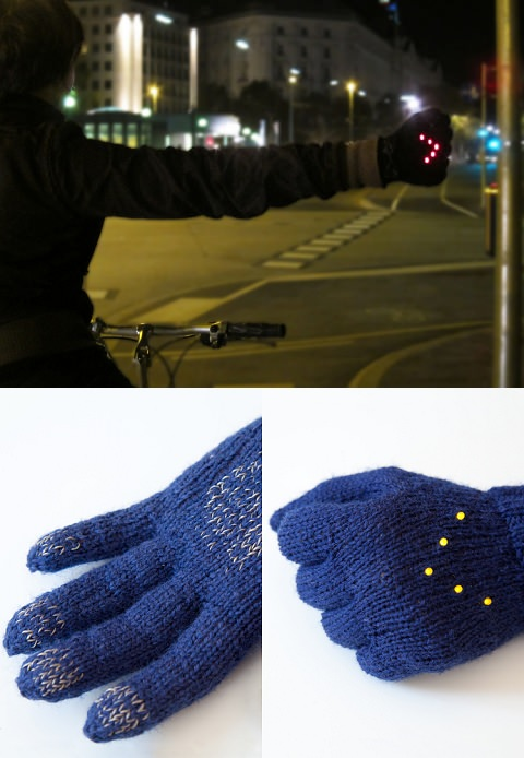 ↑ Early Winter Night Biking Gloves