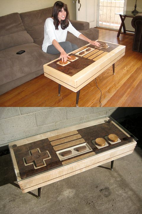 ↑ Nintendo Controller Coffee Table - FUNCTIONAL