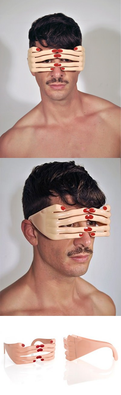 ↑ Jeremy Scott Flesh Hands frame