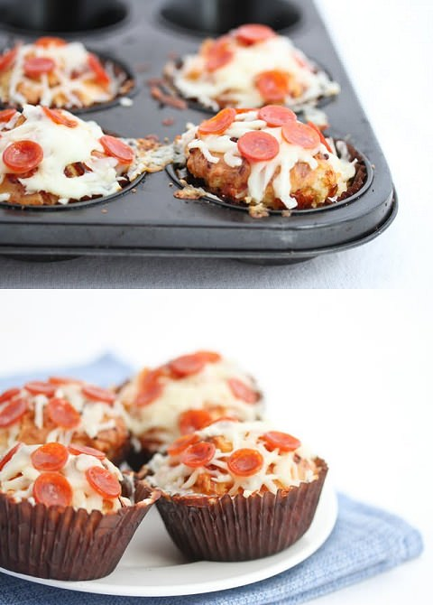 ↑ Pizza Cupcakes
