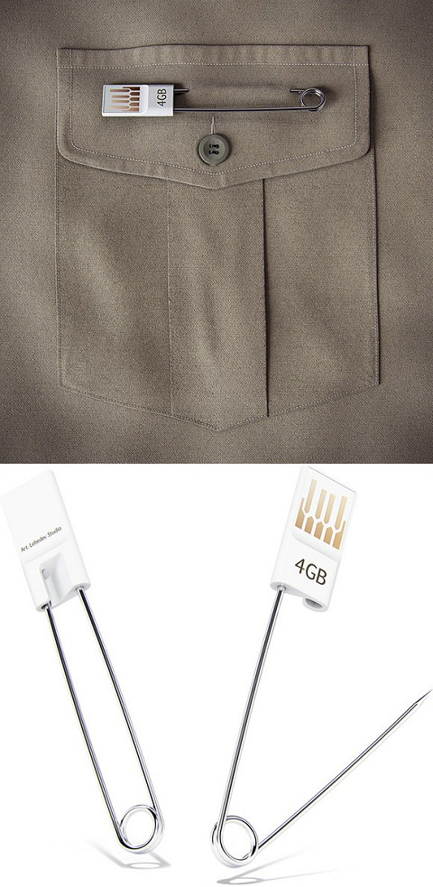 ↑ safety pin USB