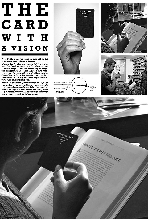 ↑ Optic Gallery: The card with a vision