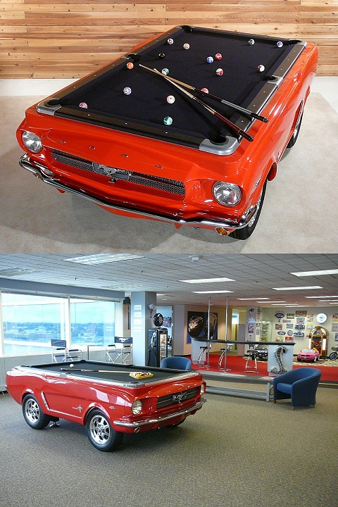 ↑ the Ford Car-Shaped Pool Table
