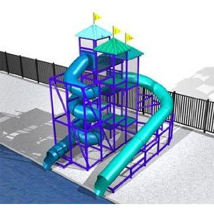 ↑ Commercial Water Slide 5792