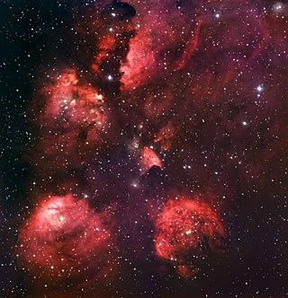 ↑ 猫の手星雲