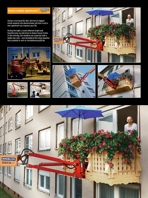 ↑ Immobilien Scout Real Estate Online Portal: Pop-Up Balcony