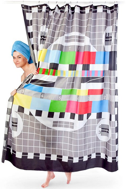↑ Test Pattern Shower Curtain