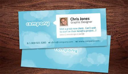 ↑ Twitter Style Business Card