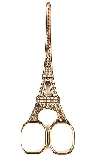 ↑ Antique Design Sewing & Embroidery Scissors - Eiffel Tower