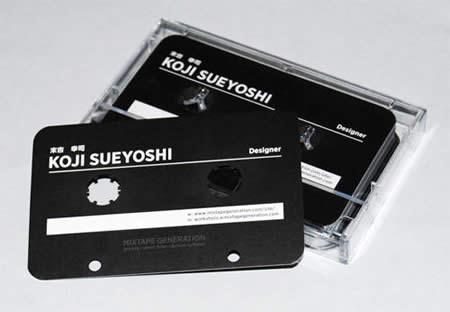↑ Audio Cassette Tape Bussiness Card.