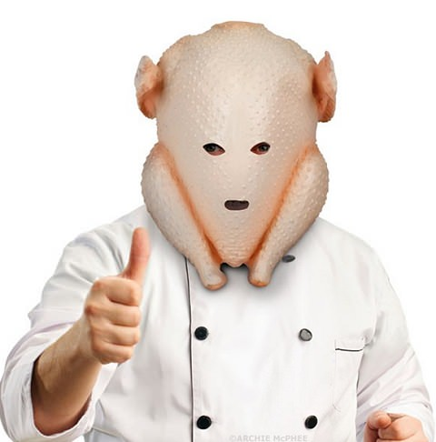 ↑ Clumsy Cook Turkey Mask