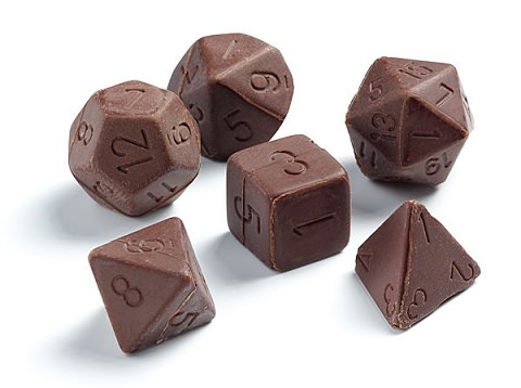↑ Chocolate Gaming Dice Set