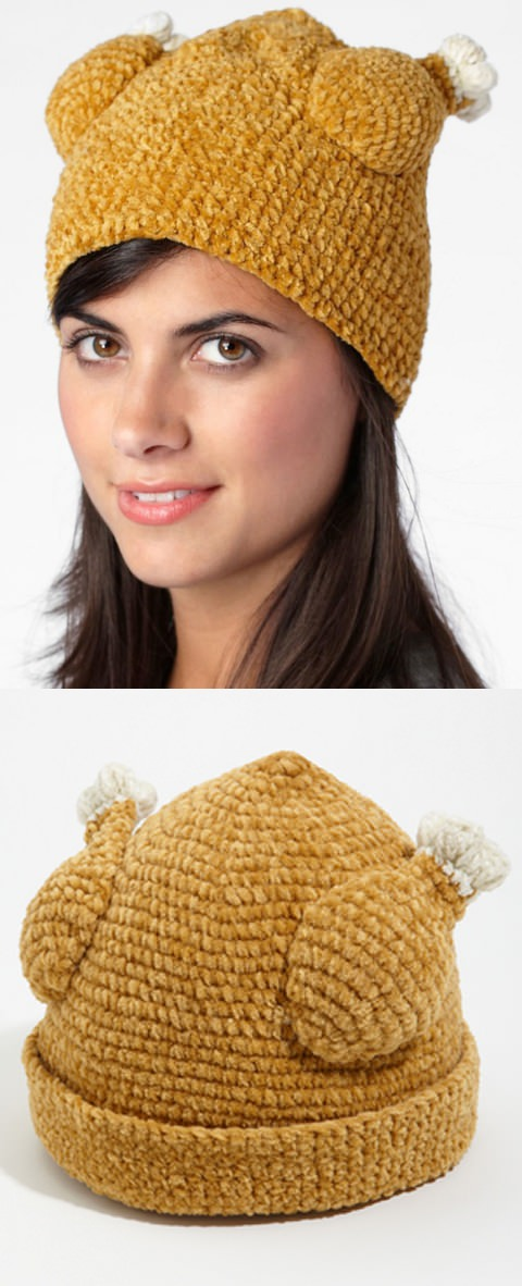 ↑ Knit Turkey Hat