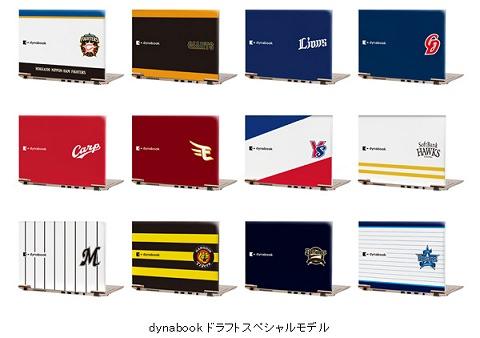 ↑ 12球団のオリジナルデザインを施したノートPC