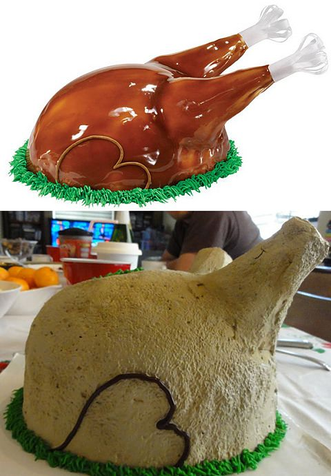 ↑ Turkey Cake by Baskin Robbins