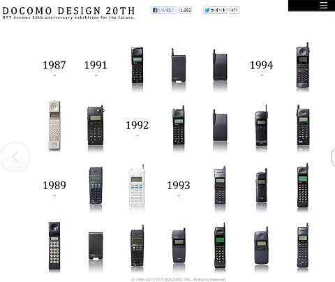 ↑ DOCOMO DESIGN 20TH