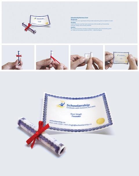 ↑ Schoolarship: Degree/Diploma business card