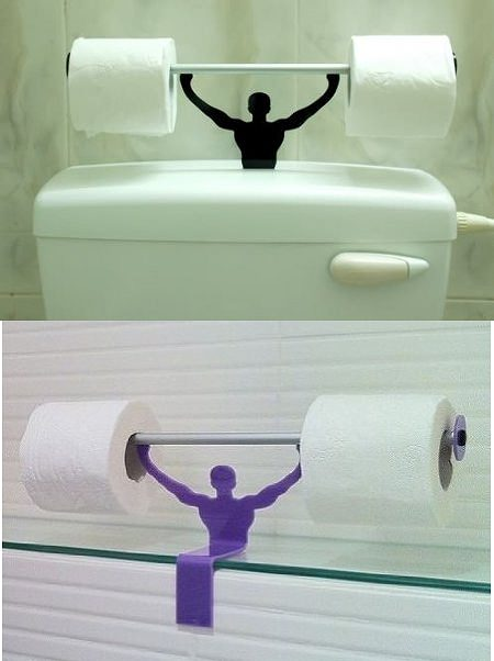 ↑ Strong Man toilet paper holder