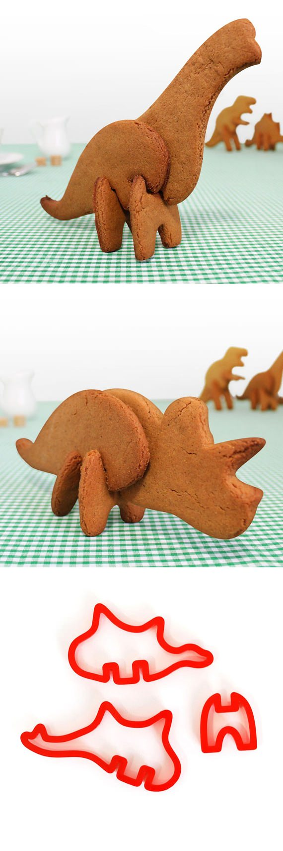 ↑ 3D Dinosaur Cookie Cutters