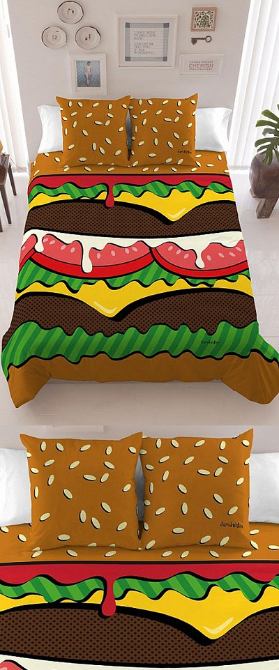 ↑ Davidelfi'n Burger Bedding