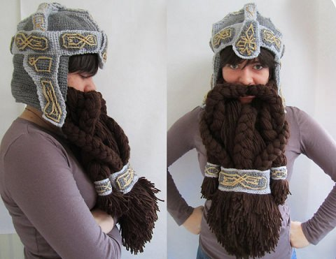 ↑ Crochet Dwarf Hat and Beard