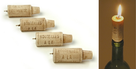 ↑ Wine Cork Candles