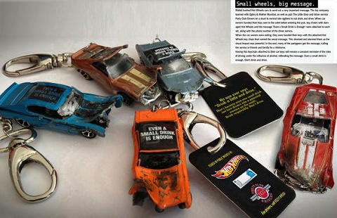 ↑ Hot Wheels: Don't drink & drive key chains