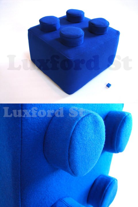↑ Lego Block Pillow - in Brilliant Blue