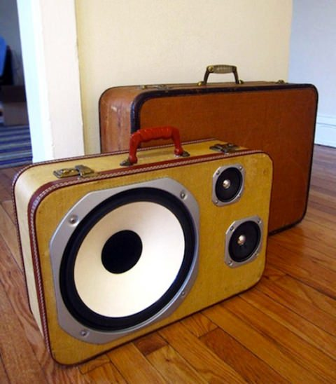 ↑ Suitcase Speakers