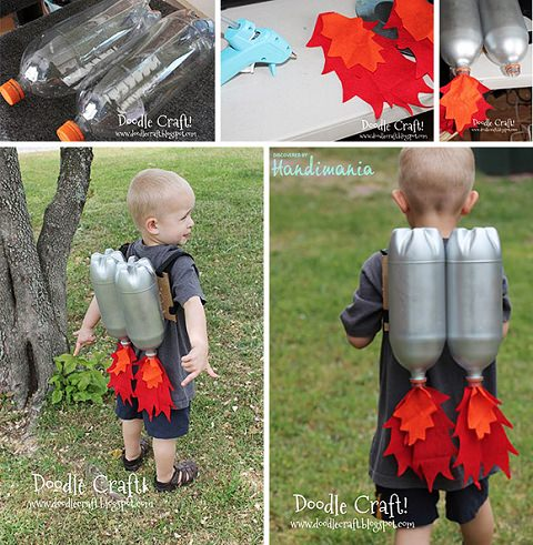 ↑ DIY upcycled Rocket jet pack