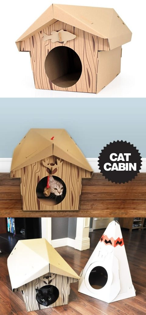 ↑ Cat Cabin - Cat Playhouse