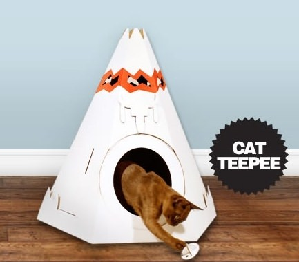 ↑ Cat Teepee - Cat Playhouse