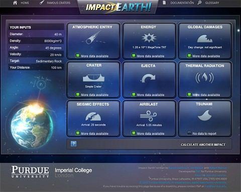 ↑ Impact Earth