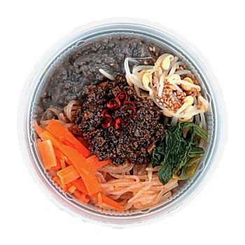 ↑ 豆乳と黒胡麻の坦々麺(コラーゲン入り)
