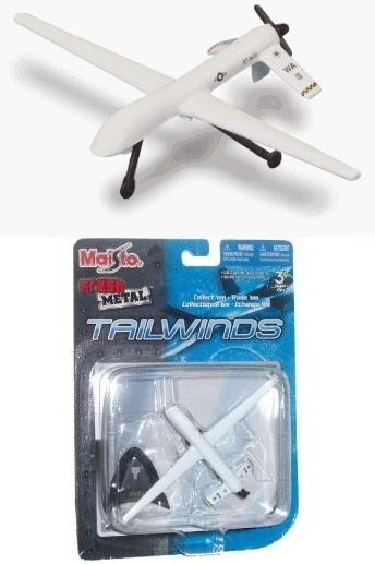 ↑ Fresh Metal Tailwinds RD-1 Predator Drone 1:87 Scale Die Cast Aircraft with Display Stand