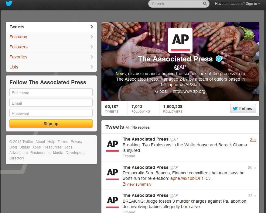 ↑ 該当するAP通信のアカウントとツイート