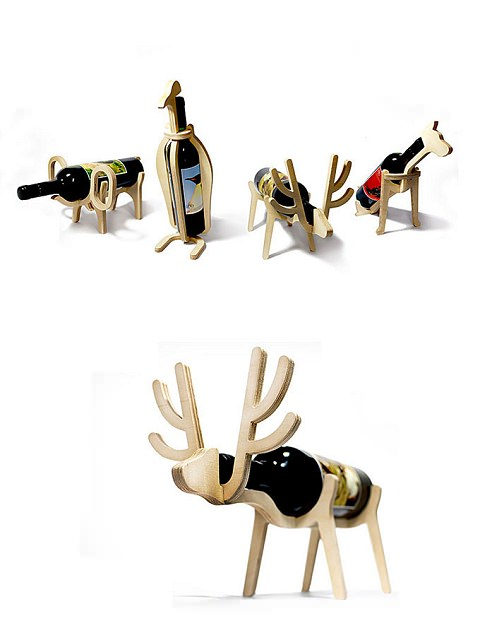 ↑ Animal wine rack