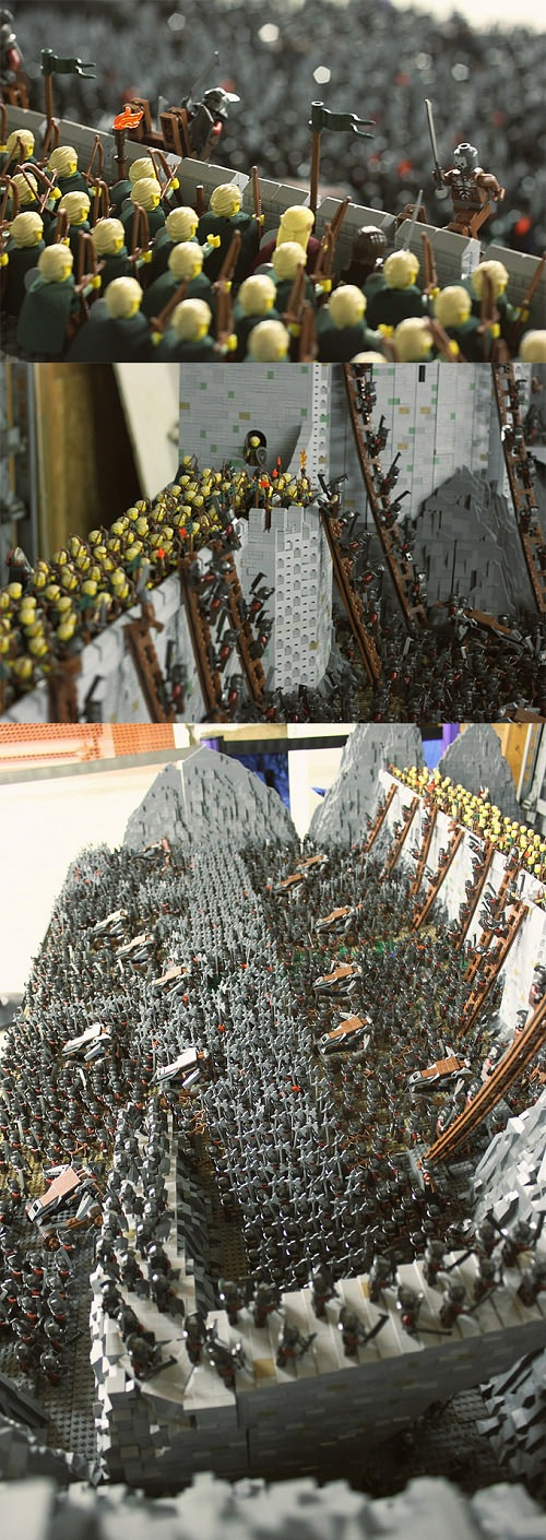 ↑ Epic LEGO Dioramas Than Lord Of The Rings Uses 1700 Mini Figures