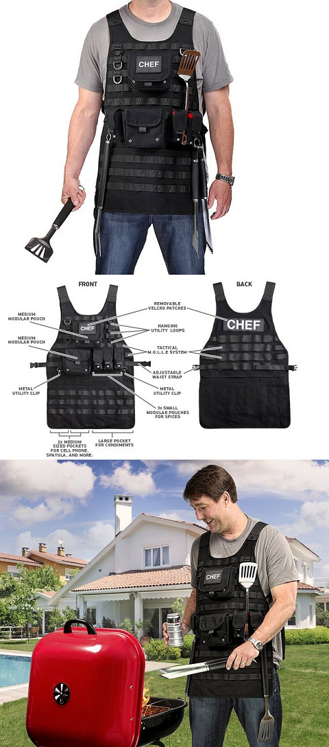 ↑ Tactical BBQ Apron