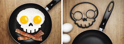 ↑ FUNNY SIDE UP SKULL EGG SHAPER